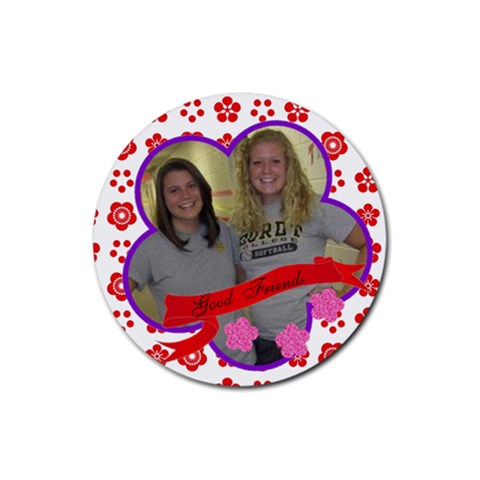 Ambur And Erin By Deb Gilbert   Rubber Coaster (round)   Avfzmn6ylhah   Www Artscow Com Front