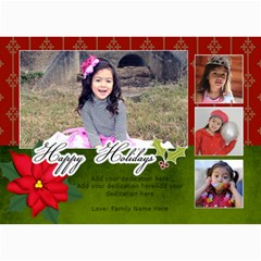 5x7 Photo Cards: Happy Holidays2 By Jennyl   5  X 7  Photo Cards   Ljq64ivzx1r5   Www Artscow Com 7 x5 Photo Card - 5