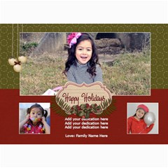 5x7 Photo Cards: Happy Holidays3 By Jennyl   5  X 7  Photo Cards   3615i6xq5qrk   Www Artscow Com 7 x5 Photo Card - 3