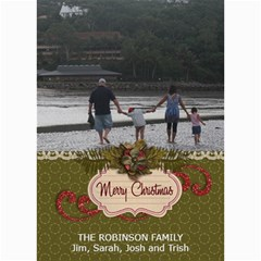 5x7 Photo Cards: Family 2 (christmas) By Jennyl   5  X 7  Photo Cards   Etqo1ct077c4   Www Artscow Com 7 x5 Photo Card - 3