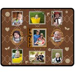 Brown Family Medium Fleece Blanket - Fleece Blanket (Medium)