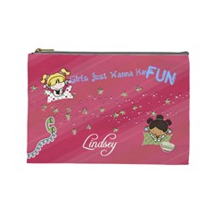 Girly Fun Cosmetic Bag By Lana Laflen   Cosmetic Bag (large)   Ynagkpwxk6fo   Www Artscow Com Front