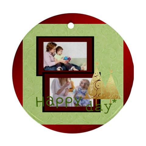 Merry Christmas By Joely   Ornament (round)   Wm5sru6yc10u   Www Artscow Com Front