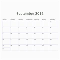 2012 Calender Nan By Rob   Wall Calendar 11  X 8 5  (12 Months)   Iafuqwcvrlcz   Www Artscow Com Sep 2012