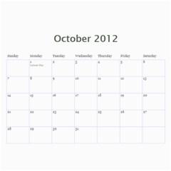 2012 Calender Nan By Rob   Wall Calendar 11  X 8 5  (12 Months)   Iafuqwcvrlcz   Www Artscow Com Oct 2012
