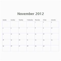 2012 Calender Nan By Rob   Wall Calendar 11  X 8 5  (12 Months)   Iafuqwcvrlcz   Www Artscow Com Nov 2012