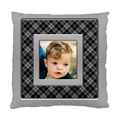 Silver And Black Cushion (2 Sided) By Deborah   Standard Cushion Case (two Sides)   F5jerf8sm8vs   Www Artscow Com Front