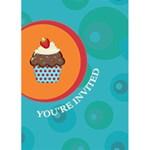 Cupcake Birthday Invite - Greeting Card 5  x 7
