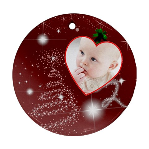 Christmas Collection Ornament (round) By Picklestar Scraps   Ornament (round)   Xzwk74lgoxp0   Www Artscow Com Front