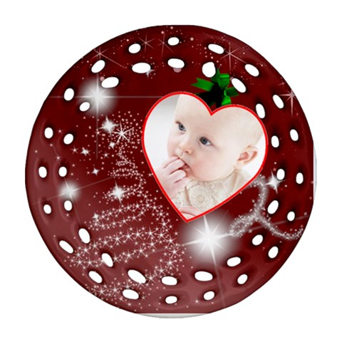 Christmas Collection Ornament (round Filigree) By Picklestar Scraps   Ornament (round Filigree)   Pxnt1mx0dxat   Www Artscow Com Front