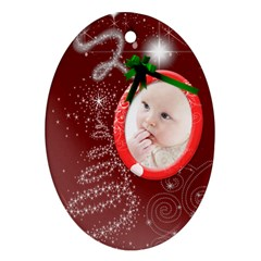Christmas Collection Oval Ornament (two Sides) By Picklestar Scraps   Oval Ornament (two Sides)   Qxnprzgd0iuh   Www Artscow Com Front