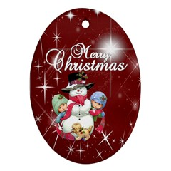Christmas Collection Oval Ornament (two Sides) By Picklestar Scraps   Oval Ornament (two Sides)   Qxnprzgd0iuh   Www Artscow Com Back
