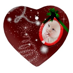 Christmas Collection Heart Ornament (two Sides) By Picklestar Scraps   Heart Ornament (two Sides)   12yp6o1u4jtl   Www Artscow Com Front