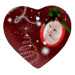 Christmas Collection Heart Ornament (Two Sides)