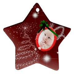 Christmas Collection Star Ornament (Two Sides) by Cassie Front