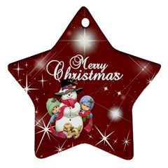 Christmas Collection Star Ornament (Two Sides) by Cassie Back