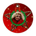 My Star round Ornament (red) - Ornament (Round)