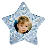 My Ice Blue snowflake Star Ornament - Ornament (Star)