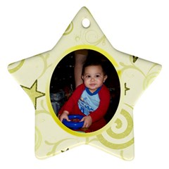 Gold Swirl Star Ornament By Cynthia Marcano   Star Ornament (two Sides)   Fswe5low9itq   Www Artscow Com Back
