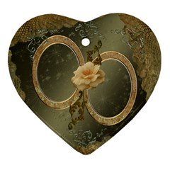 Neutral Gold 2 Side Heart Ornament By Ellan   Heart Ornament (two Sides)   Tzypm4j39gyy   Www Artscow Com Back