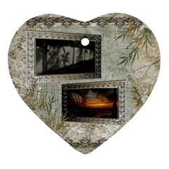 Neutral Shadow Frame 2 Side Heart Ornament By Ellan   Heart Ornament (two Sides)   Vdlcgzylk9bc   Www Artscow Com Front