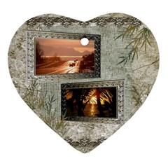 Neutral Shadow Frame 2 Side Heart Ornament By Ellan   Heart Ornament (two Sides)   Vdlcgzylk9bc   Www Artscow Com Back