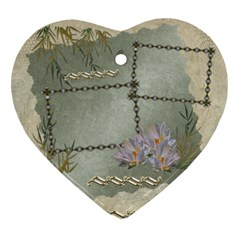 Neutral Gold 2 Side Heart Ornament By Ellan   Heart Ornament (two Sides)   6wl2lr58e507   Www Artscow Com Back