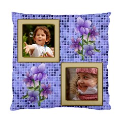 Little Violet (2 Sided) Cushion By Deborah   Standard Cushion Case (two Sides)   Jsq3tq41ualy   Www Artscow Com Front