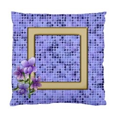 Little Violet (2 Sided) Cushion By Deborah   Standard Cushion Case (two Sides)   Jsq3tq41ualy   Www Artscow Com Back