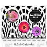 Modern Black and White Calendar 2017 (any Year) 8.5x6 - Wall Calendar 8.5  x 6