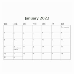 Modern Black And White Calendar 2019 (any Year) 8 5x6 By Deborah   Wall Calendar 8 5  X 6    7kg2p80kswjv   Www Artscow Com Jan 2019