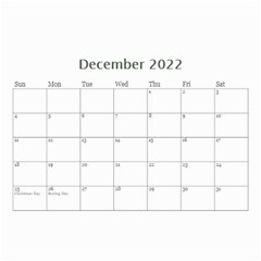Modern Black And White Calendar 2019 (any Year) 8 5x6 By Deborah   Wall Calendar 8 5  X 6    7kg2p80kswjv   Www Artscow Com Dec 2019