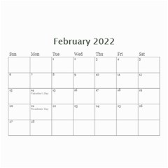 Modern Black And White Calendar 2017 (any Year) 8 5x6 By Deborah   Wall Calendar 8 5  X 6    7kg2p80kswjv   Www Artscow Com Feb 2017