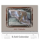 Cream Classic 2013 (any Year) Calendar 8.5x6 - Wall Calendar 8.5 x 6