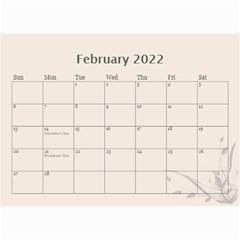 Cream Classic 2019 (any Year) Calendar 8 5x6 By Deborah   Wall Calendar 8 5  X 6    2fyzfcnroj84   Www Artscow Com Feb 2019