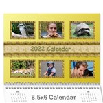 Tutti General Purpose (any Year) Calendar 8.5x6 -