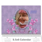 Pretty in Mauve 2017 (any year)Calendar, 8.5x6 - Wall Calendar 8.5  x 6