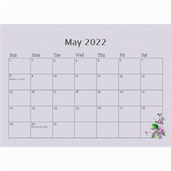Pretty In Mauve 2019 (any Year)calendar, 8 5x6 By Deborah   Wall Calendar 8 5  X 6    5x4ttpugz6a5   Www Artscow Com May 2019