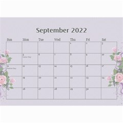 Pretty In Mauve 2019 (any Year)calendar, 8 5x6 By Deborah   Wall Calendar 8 5  X 6    5x4ttpugz6a5   Www Artscow Com Sep 2019