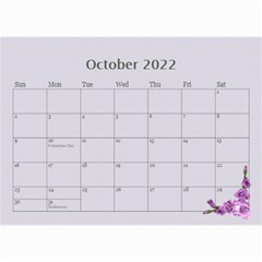Pretty In Mauve 2019 (any Year)calendar, 8 5x6 By Deborah   Wall Calendar 8 5  X 6    5x4ttpugz6a5   Www Artscow Com Oct 2019