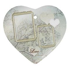 Wedding Love 2 Side Heart Ornament By Ellan   Heart Ornament (two Sides)   9iv4yzasrxkp   Www Artscow Com Front