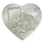 Wedding Love 2 side Heart ornament - Heart Ornament (Two Sides)