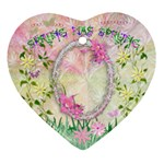 Spring easter 2 side Heart ornament - Heart Ornament (Two Sides)