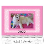Pink Princess 2017 (any Year)Calendar 8.5x6 - Wall Calendar 8.5  x 6