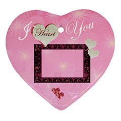I Heart You Pink 2 Side Ornament By Ellan Front