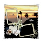 Wedding Love palm Sunset Double Sided Cusion Case - Standard Cushion Case (Two Sides)