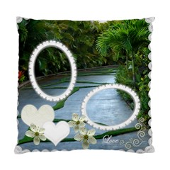 Wedding Love green palm Double Sided Cushion Case by Ellan Front