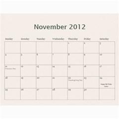 2012 Calendar By Kristi   Wall Calendar 11  X 8 5  (12 Months)   Npl6a1rgt3wo   Www Artscow Com Nov 2012