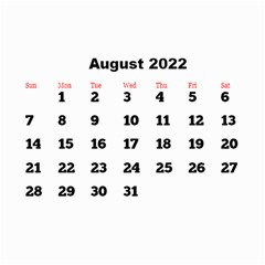 All Framed 2019 Large Numbers Calendar 8 5x6 By Deborah   Wall Calendar 8 5  X 6    Fu59vwnf8g8t   Www Artscow Com Aug 2019