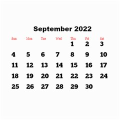All Framed 2019 Large Numbers Calendar 8 5x6 By Deborah   Wall Calendar 8 5  X 6    Fu59vwnf8g8t   Www Artscow Com Sep 2019